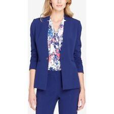 Tahari Arthur S. Levine Star Neck Blazer Slate Size 6 $129