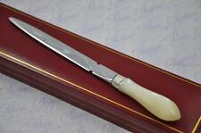 TINY MOTHER OF PEARL AND SILVER LETTER OPENER/PAPER KNIFE SHEFFIELD C1900