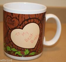 Coffee Mug Valentine Cup Tree Bark Hugs & Kisses True Love You're The OneB1