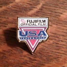 FujiFilm Track & Field Lapel Pin - Vintage USA Fuji Film Olympic Games Team Pin