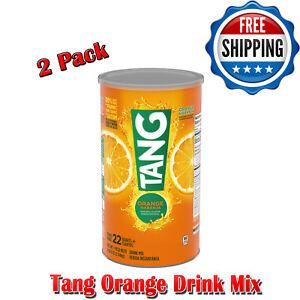 Tang Orange Drink Mix, Good Source of Calcium, Vitanmin C, Pantry, 72 Oz. 2 Pack
