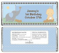 Our little Boy Peanut's Personalized Birthday Party Candy Bar Wrappers -
