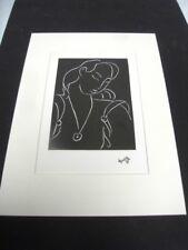 """MATISSE HENRI - REPRODUCTION GRAPHIQUE DE 1987 D'1 OEUVRE DE 1944  """"VISAGE 6"""" /6"""