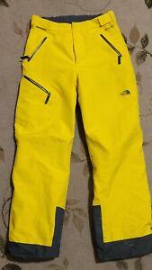 Yellow - NORTH FACE BIG BOYS FRESH TRACKS GORE-TEX SNOW PANTS size 20