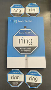 RING Security Yard Sign Plus 4 Window Decals - New & Sealed!