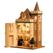 New Dollhouse Miniature DIY Kit Dolls House With Furniture Moonlight Castle AU