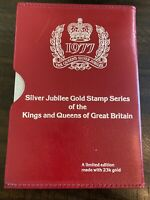 1977 Silver Jubilee Gold Stamp Series Of The Kings And Queens Of Great Britain