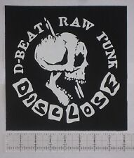 DISCLOSE Back Patch - DIY Crust Punk Disrupt Wolfbrigade Nausea Discharge Doom