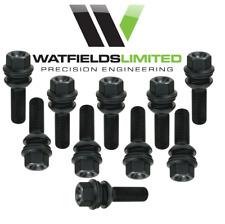20 x BLACK VW T5/T6 M14 x 1.5 wheel bolts, R14,19mm Hex Head, 53 & 58mm Thread