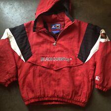 Men's Vintage 90's Starter Chicago Blackhawks Red Black White Puffer Jacket Sz L