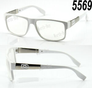 New Womens Mens Square Clear Lens Frame Eye Glasses Fashion Designer Nerd Wrap