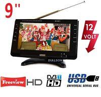 CANVA HD 101, 9'' INCH LED Digital Freeview TV 12V & 240V USB PVR , AV INPUT