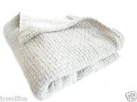 Kinderdecke Schmusedecke Plaid 100% Baumwolle Stonewashed Weiß150 x100 cm Trend