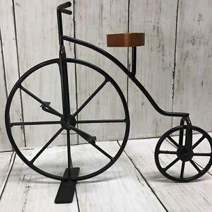 Vintage style Bicycle Tabletop Home Decorative Metal Bike Basket Sculpture