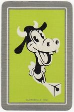 Playing Cards 1 Single Swap Card Old Vintage DISNEY CLARABELLE COW Mickey Mouse