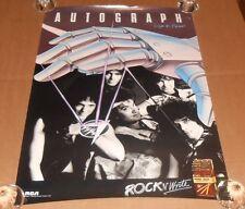 Autograph Sign in Please 1984 Promo Poster Rare Steve Plunkett Heavy Metal 30x20