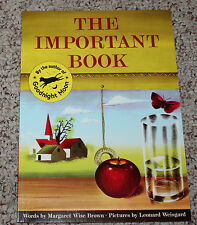 Important Book by Margaret Wise Brown and Brown (1990, Paperback)