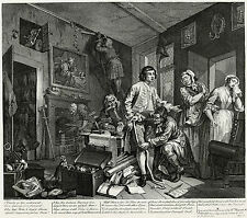 Hogarth Print Reproduction: A Rake's Progress: The Heir: Plate 1: Fine Art Print