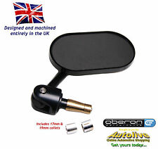 "Oberon billet oblong adjustable bar end mirror (Black-7/8"") from Autolive Online"