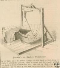 Waschmaschine.Patterson`s und Ramsey`s.Holzstich v.1861