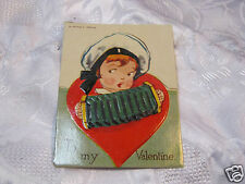Vintage Valentine's Day Valentine Greetings Button box Cut Out Embossed Bavaria