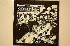 Subhumans Cloth Patch (CP223) Punk Rock Adicts Sex Pistols Dead Kennedys Doom