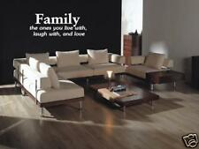 """FAMILY Live Laugh Love Vinyl Wall Decal Home Decor 36"""""""
