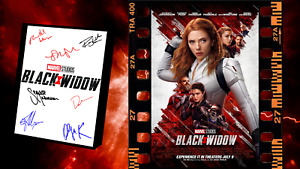 Black Widow Movie Poster and Autograph Signed Print