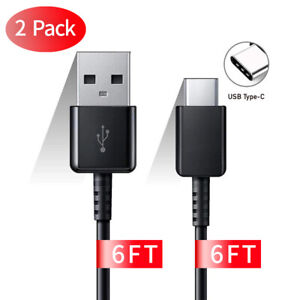 2-Pack 6FT Samsung Galaxy Note 20 Ultra S9 S10 S20 USB Type C Cable OEM Charger