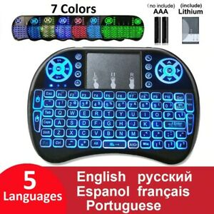 Keyboard Mini Wireless Pc Tv Android 2.4 Touchpad Box Smart Mouse Remote Backlit