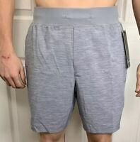 "Lululemon Mens Size L THE Short 9"" Linerless Short Gray SLTC Run Yoga NWT"