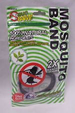 Bug Bam Mosquito Repellent Bands 100% Natural Deet Free Child Safe Non Toxic 2x