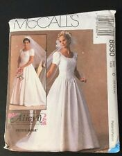 McCall's Sewing Pattern 8630 Wedding Dress Size 2 10,12,14 Alicyn Uncut