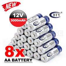 8 un. Batería AA Batería Recargable recargar las baterías 1.2 V 3000 mAh Ni-mh