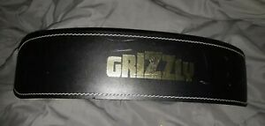 Grizzly Fitness 4-Inch Padded Pacesetter Training Belt Size Large-