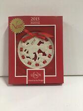 Lenox~ Christmas Wrappings ~ 2015 Annual Porcelain Ornament ~ Partridge ~ Nib