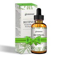Gemmaz 2.5% Retinol Serum Remove Fine Lines Wrinkles Face Neck Eye Area NEW