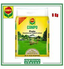 COMPO Concime per Prato Giardino 5Kg Fertilizzante Pronto Inglese Erba NPK