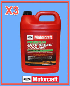 3 X Gallon Engine Coolant/Antifreeze Motorcraft VC5 Premium Concentrated