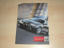 49032) Alfa Romeo 156 + SW Ausstattungspakete Prospekt 200?