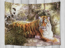 Wild Animal Siberian tiger Tapestry Hippie Wall Hanging for Living Room Bedroom