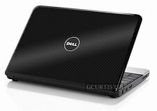 3D CARBON FIBER Vinyl Lid Skin Cover Decal fit Dell Inspiron Mini 10 Netbook
