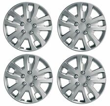 New Universal 14 Inch Silver Gyro SET OF 4 WHEELS TRIMS / Hub Caps by Ring