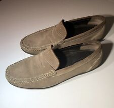 Bostonian 22794 Taupe Suede Moc Toe Penny Loafers (10)