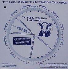 Cattle Gestation Calendar Calculate Birth Breeding