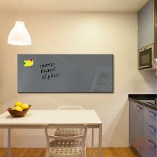 Glas-Magnettafel DekoGlas 125x50 Magnetwand Pinnwand Schreibtafel Grau 52073