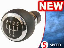 GEAR STICK SHIFT KNOB CHROME VW PASSAT B6 B7 CC 5 SPEED LEATHER - NEW