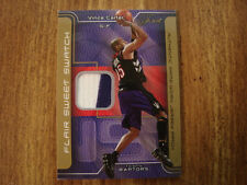 2003-04 Flair Sweet Swatch Vince Carter Jersey Patch Card (B22) Toronto Raptors