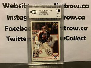 PATRICK ROY 1991-92 UPPER DECK MCDONALDS # 8 BCCG 10 GEM MT