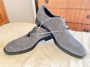 NIB TOD's Men's Ashen Gray Suede Lace Up Oxfords US 11/EU 44 Made in Italy